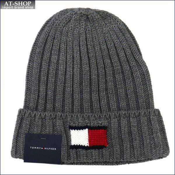 TOMMY HILFIGER トミー・ヒルフィガー 帽子 ニットキャップ h8h73210-040 シルバー Knit Logo Scarf