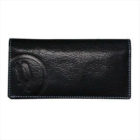 POLICE ポリス 財布サイフ ベーシック 二つ折り長財布 PLC112 BLACK×BLUE
