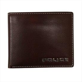 POLICE ポリス 財布サイフ ボルドゥーラ 二つ折り財布 PLC133 BROWN