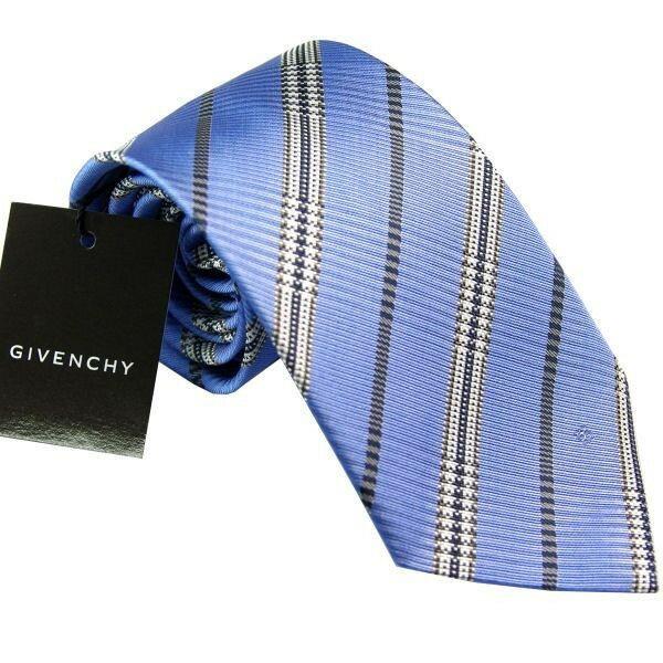 【あす楽】ジバンシー GIVENCHY ネクタイ 8.5cm ブルー系 CR8GP 022-5
