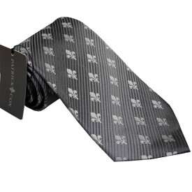 PATRICK COX パトリックコックス ネクタイ 約9.5cm ストライプ柄 グレー系 PC-006-GRAY BOX