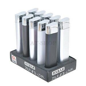 ライテック ライター スリム ターボライター ガス注入式 MW-LA-T15 (お得まとめ買い 10本セット) ※色選択不可