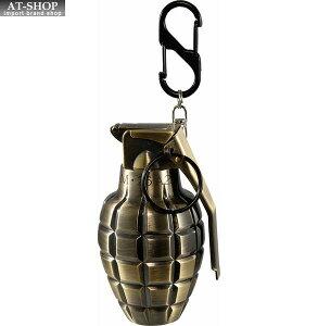 【あす楽】グレネード ターボライター 手榴弾 ミリタリー ガス注入式ライター アドミラル産業 71390073 真鍮古美(ゴールド)