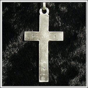 裏面画像■【クロス・十字架】アンティーク復刻シルバー925♪クロスネックレス