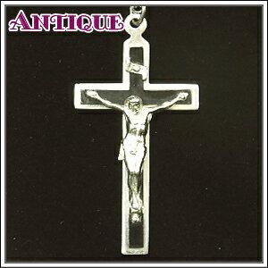アンティーク♪黒樹脂板重ね合わせのアンティーク クロス十字架ネックレス、ペンダントトップ、チャーム、ヴィンテージ、ビンテージ【アンティーククロス】