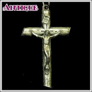 一点物♪丸太を模した合金製の十字架 アンティーククロス十字架ネックレス、十字架、ペンダントトップ、チャーム、ヴィンテージ、ビンテージ【アンティーククロス】