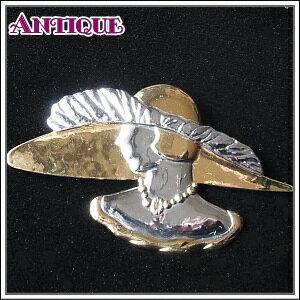 【アンティーク アクセサリー】1点もの♪アールデコデザイン モダンガールのブローチ