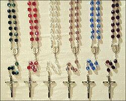 復刻版♪ノートルダム聖母メダイのリメイクロザリオネックレス3707【ロザリオ】