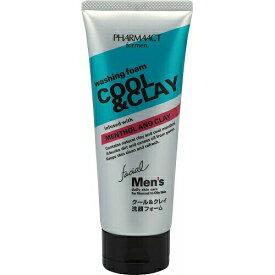 熊野油脂 ファーマアクト メンズ クール&クレイ洗顔フォーム 130g