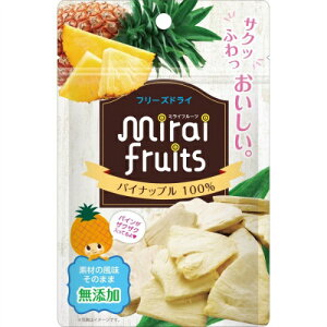 【送料込・まとめ買い×72個セット】ビタットジャパン ミライフルーツ パイナップル 10g 1個
