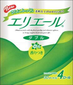 【送料込】 大王製紙 エリエール トイレットティシュー 香りつき ダブル 30m ×4ロール入 ×24個セット (激安 トイレットペーパー)