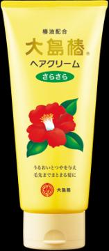 大島椿 ヘアクリーム さらさら 160g 鉱物油フリー 無香料 無着色 1個 (椿油配合のヘアクリーム)
