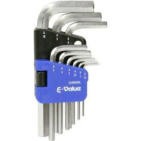 【送料込】 藤原産業 E-Value 六角棒レンチセット ミリ ELHW09NL (9本組) 1個