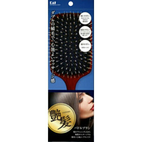 貝印 KQ1547艶髪-ADEKAMI-パドルブラシ 1個 (整髪・ヘアブラシ)