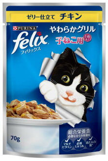 Felix and straw or Grill mittens for jelly sauce, chicken and 70G×60 pieces (4902201206822)