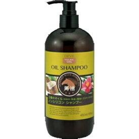 熊野油脂 ディブ 3種のオイル シャンプー 馬油・椿油・ココナッツオイル 本体 480ml 1個