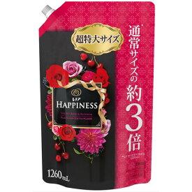 レノア ハピネス ヴェルベットローズ&ブロッサム 詰替え超特大サイズ 柔軟剤 1個