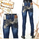 【送料無料】メンズ◆CLOUD72(クラウド72ジーンズ)GH/CDP680 ストレッチデニム 羽刺繍 ユリデザイン タイトスト…
