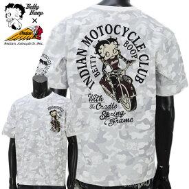 【2019年春夏新作】Indian(インディアン)BBI-910 ベティー刺繍 総柄 半袖Tシャツ【atrium102】