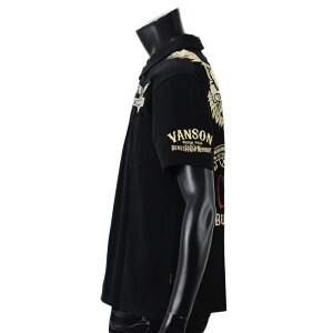 sample【2019年春夏新作】vanson(バンソン)NVPS-906イーグル刺繍半袖ポロシャツ【atrium102】