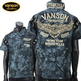 【2019年春夏新作】vanson(バンソン) ウィング刺繍スター袖切り替え 半袖ポロシャツ NVPS-911【atrium102】