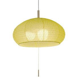 3灯 和紙 ペンダントライト dome 麻葉萌葱 電球付属なし シェードサイズ 幅480x奥行480x高さ240mm 彩光デザイン