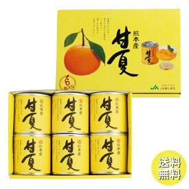 JAあしきた 甘夏缶詰(6缶入)【ギフト・熨斗対応不可】【送料無料(一部地域を除く)】