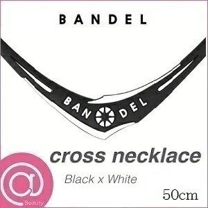 【正規品】 BANDEL バンデル クロスネックレス Black×White 50cm ※※