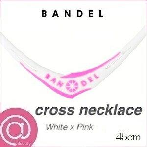 【正規品】 BANDEL バンデル クロスネックレス White×Pink 45cm ※※