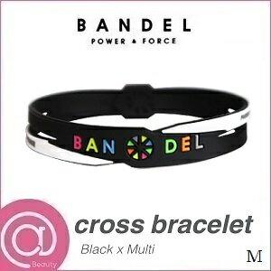 【正規品】 バンデル シリコン クロスブレスレット Black×Multi M ※※