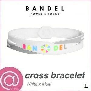 【正規品】 バンデル シリコン クロスブレスレット White×Multi L ※※