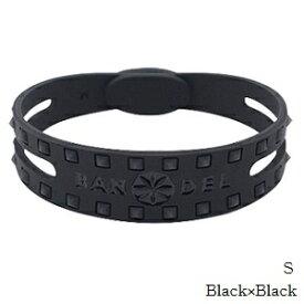 (正規品)バンデル スタッズ ブレスレット Black×Black S