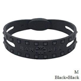 (正規品)バンデル スタッズ ブレスレット Black×Black M