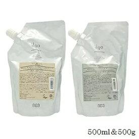 (セット)ナンバースリー 003 イルガ 薬用 シャンプー 500ml レフィル 詰替用 + トリートメント S 500g レフィル 詰替用 (医薬部外品)