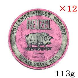 ルーゾー ストロングホールド ポマード ピンク MIDIUM SHINE 113g ×12セット