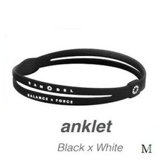 BANDEL van Dell anklet BlackxWhite M ※※