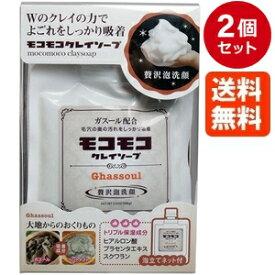 【モコモコクレイソープ】もこもこクレイソープ 100g×2個セット 人気の半生石鹸 送料無料で楽天最安値に挑戦中!泡立てネット付/どろあわわ ( どろ豆乳石鹸 )をご利用の方も是非お試しください