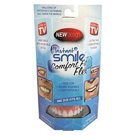 【9/29 WエントリーでP4倍】インスタントスマイル コンフォート フィット フレックス | 男女兼用 上歯専用 疑似入れ歯 ワンタッチ 付け歯 審美歯 上歯 義歯 つけ歯 仮歯 審美 簡単 装着