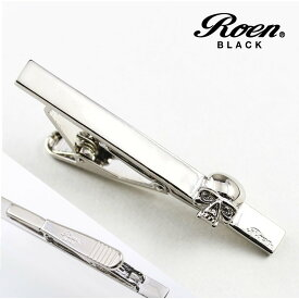 Roen Black ロエン アクセサリー メンズ タイピン タイバー ネクタイ スーツ シルバー スカル ギフト プレゼント 就職祝い ROT-004