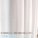 日本製花粉キャッチ抗菌レースカーテン【セント】ホワイト