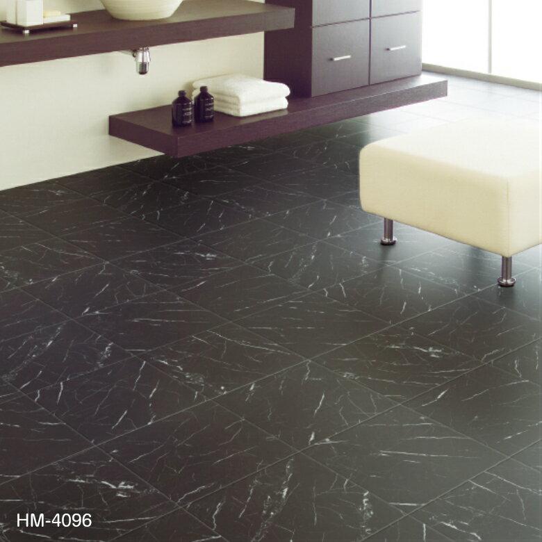 クッションフロア 黒 海外風 ストーン マーブル サンゲツ HM-4096 大理石 洗面やトイレ、玄関にもおすすめです!1m単位で切り売りします