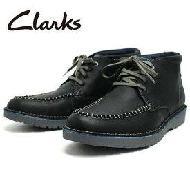 【楽天スーパーSALE超目玉24時間限定】クラークス チャッカブーツ Clarks Vargo Apron 26138812 メンズ 男性 紳士 カジュアル 靴 ブーツ ブラック 黒 レザー 革靴