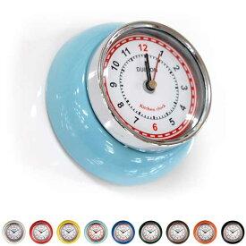 時計 キッチン用 マグネットタイプ 小型 ダルトン キッチンクロック ウィズ マグネット アナログ アメリカンヴィンテージ調