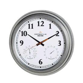 壁掛け時計 ダルトン ウォールクロック ノースロップ G-40 直径40.5cm 温度計・湿度計付 ガルバナイズド シンプル レトロ アメリカンヴィンテージ調