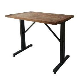 カウンターテーブル バーテーブル スパイス ANCIENT 120×75cm 高さ100cm 長方形 無垢材+スチール 2〜4人用 カフェテーブル ブルックリンスタイル