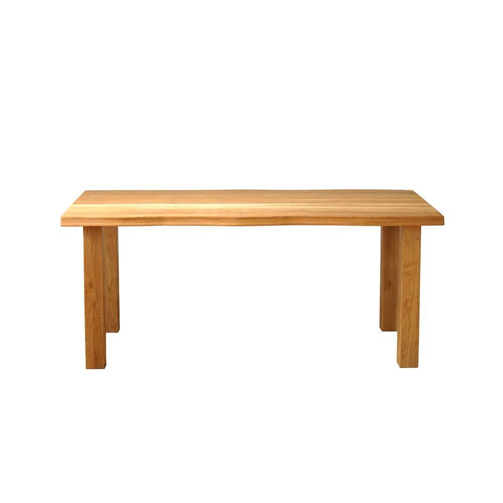 ダイニングテーブル 160cm 天然木 オーク無垢材 一枚板風 Nordic ノルディック スチール脚・木脚選択可