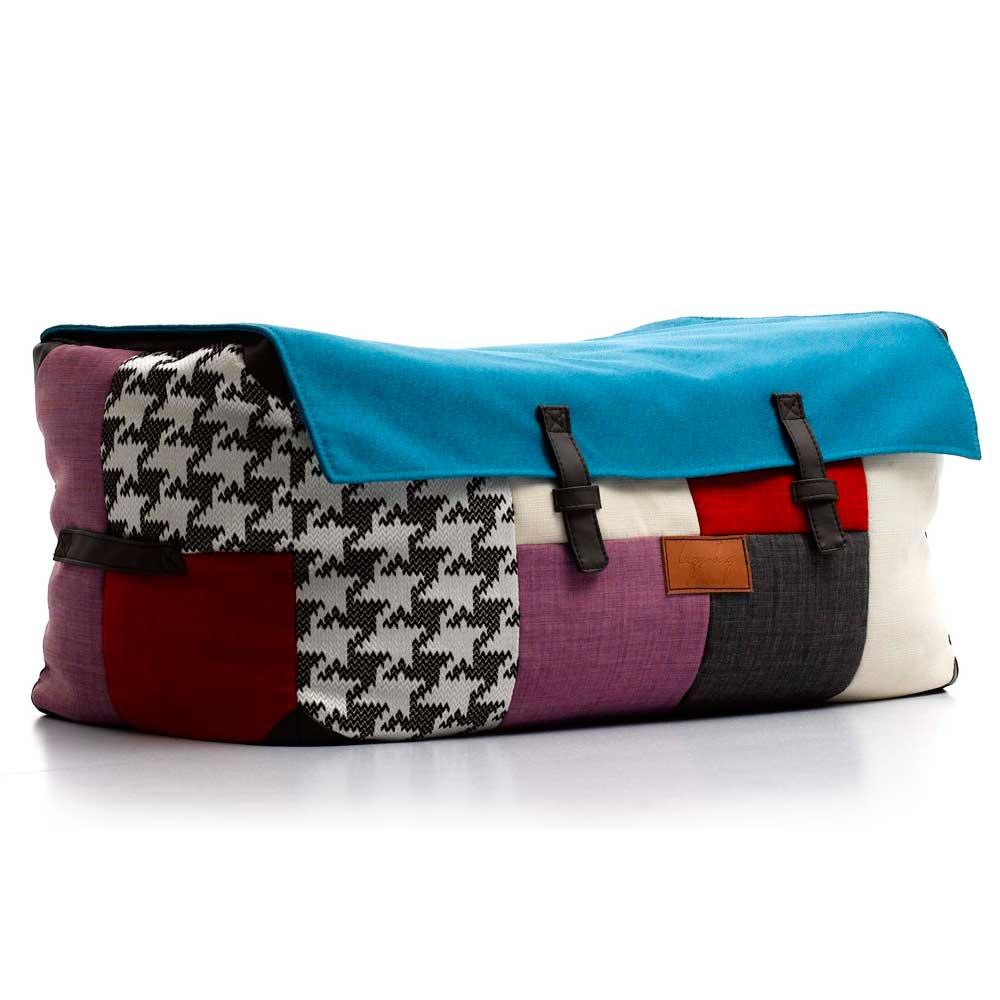 Lazy Bag ビーズクッションワイドスツール 310-BB カバーリング パッチワーク柄