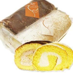 ロールケーキ 新潟 米粉「米っ娘ロール」2種セット プレーン・生チョコ味【冷凍】油脂不使用 低カロリースイーツ