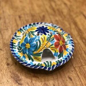 テント アッシュ トレイ フラワー 灰皿 花柄 陶器製 アッシュトレイ スペイン製 陶器 雑貨 インテリア