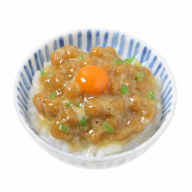 【メール便不可】食品サンプル屋さんのマグネット(納豆ごはん)食品サンプル ミニチュア 雑貨 食べ物 日本 外国 土産 リアル